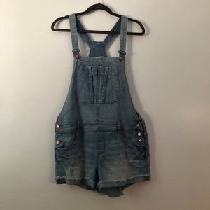 America Rag Denim Short Overalls